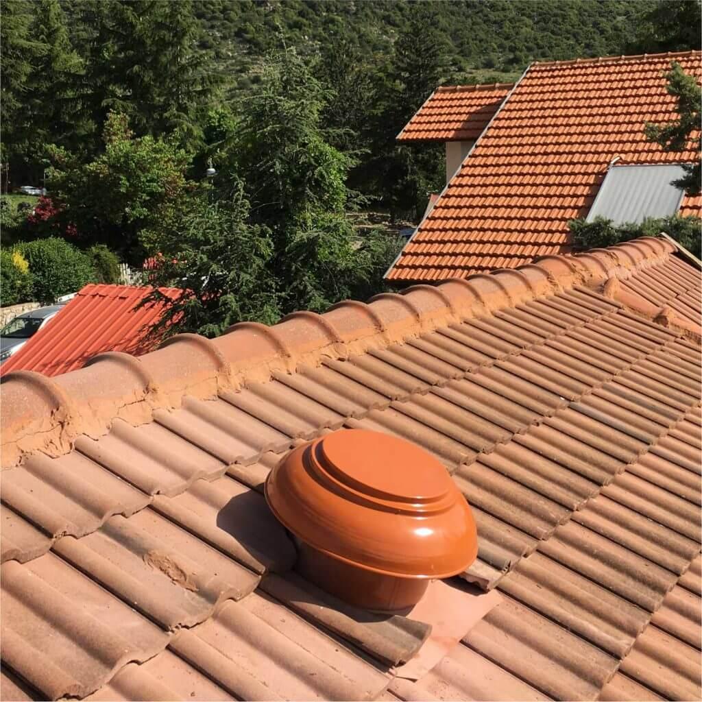 מעולה  פתרונות אוורור, אוורור גג רעפים, מפוח גג | טרמו-וונט VV-17