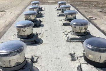 כיפת תאורה טרמו-לייט על גג לוחדים (לוחות דרוכים) – המרכז לבריאות הנפש, נתניה